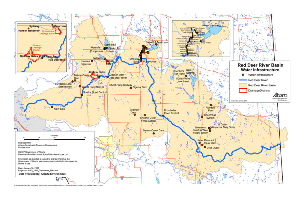 Water Infrastructure in the Red Deer River Basin