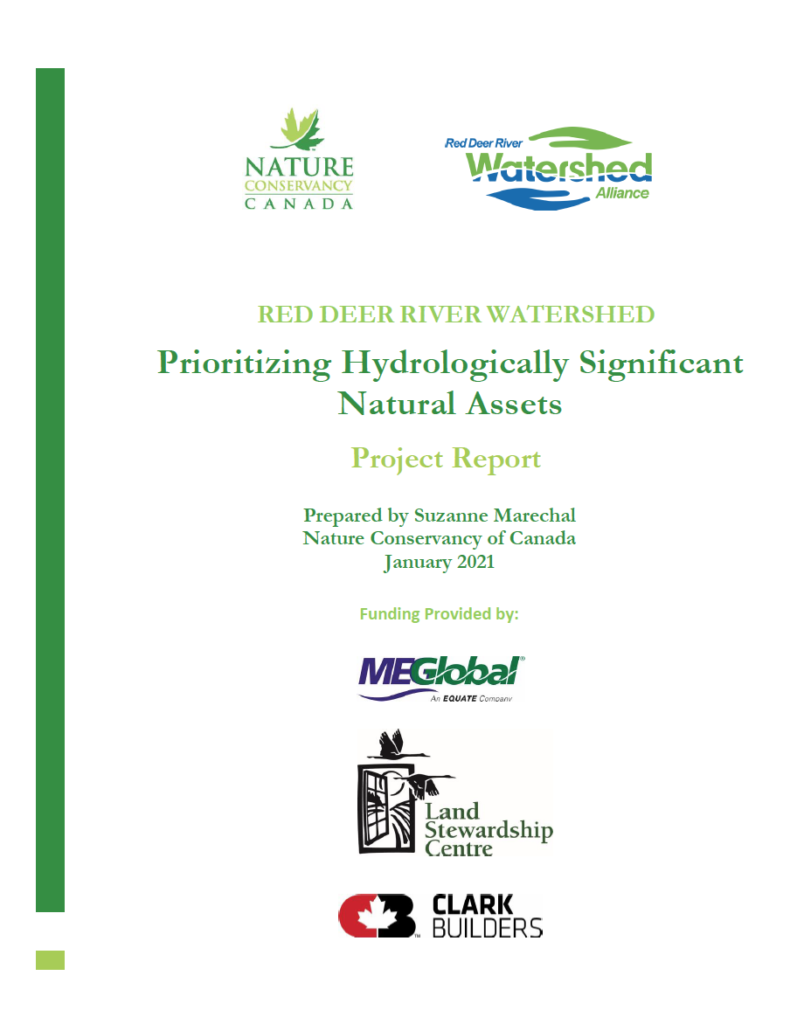 Prioritizing Hydrologically Significant Natural Assets - Project Report